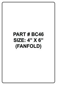 BLANK FAN FOLD BAR CODE LABELS | Paper Roll Supplies | 800-243-5877